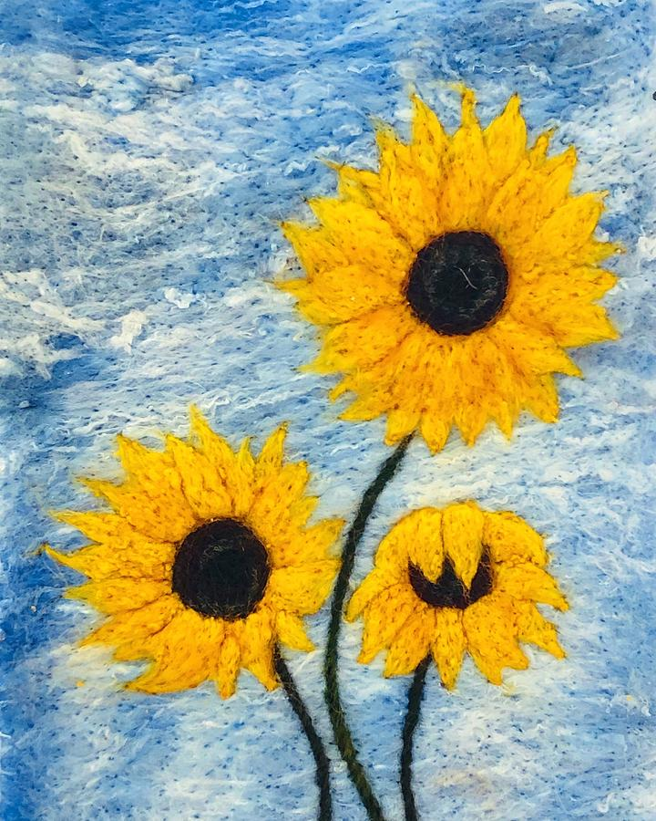 sunflower trio by Ushma Sargeant