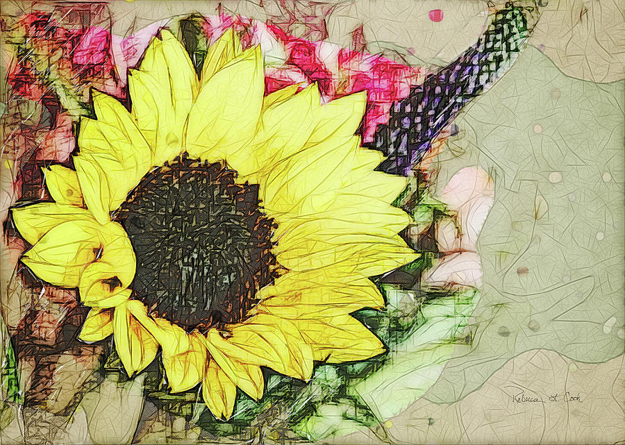 Sunflower And Red Dot by Bellesouth Studio