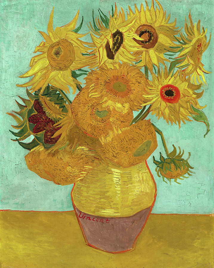Vincent Van Gogh Sunflowers Canvas Wall Art Poster Print Painting Artist Flowers
