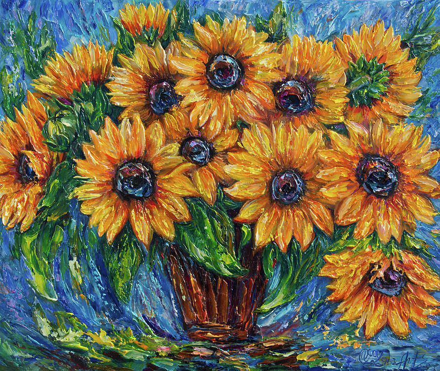 Sunflowers in a Vase 2  by OLena Art Brand