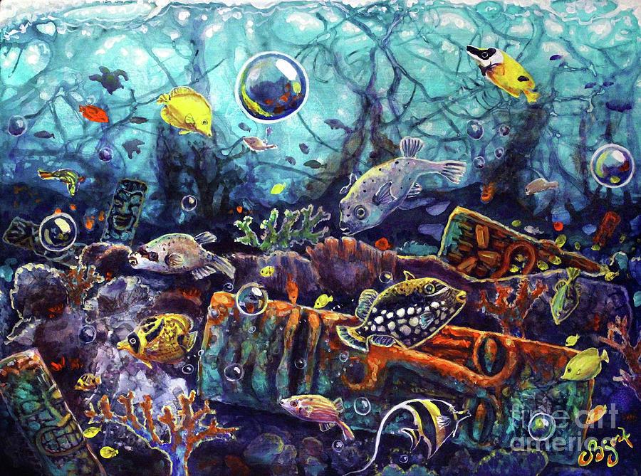 Sunken Tiki Reef by CBjork