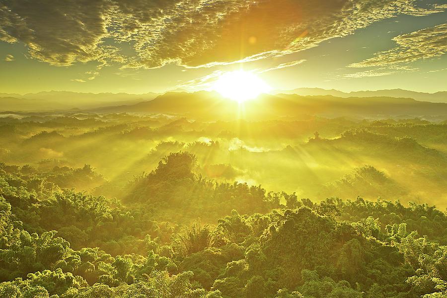 Sunlight Beam Bursting In Erliao by Sunrise@dawn Photography