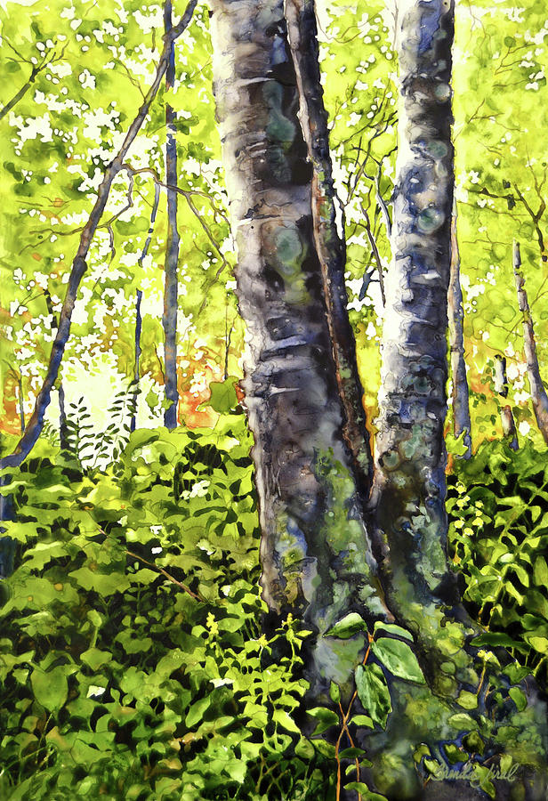 Afternoon Painting - Sunlight Breaking Through by Brenda Jiral