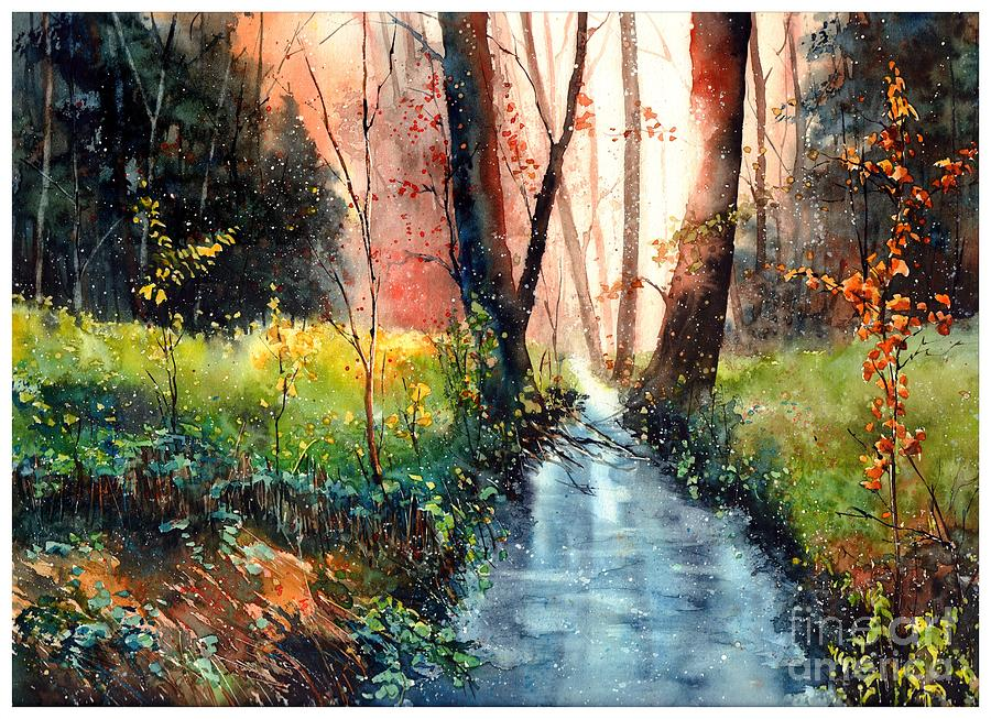 Wild Painting - Sunlight Colorful Path by Suzann Sines