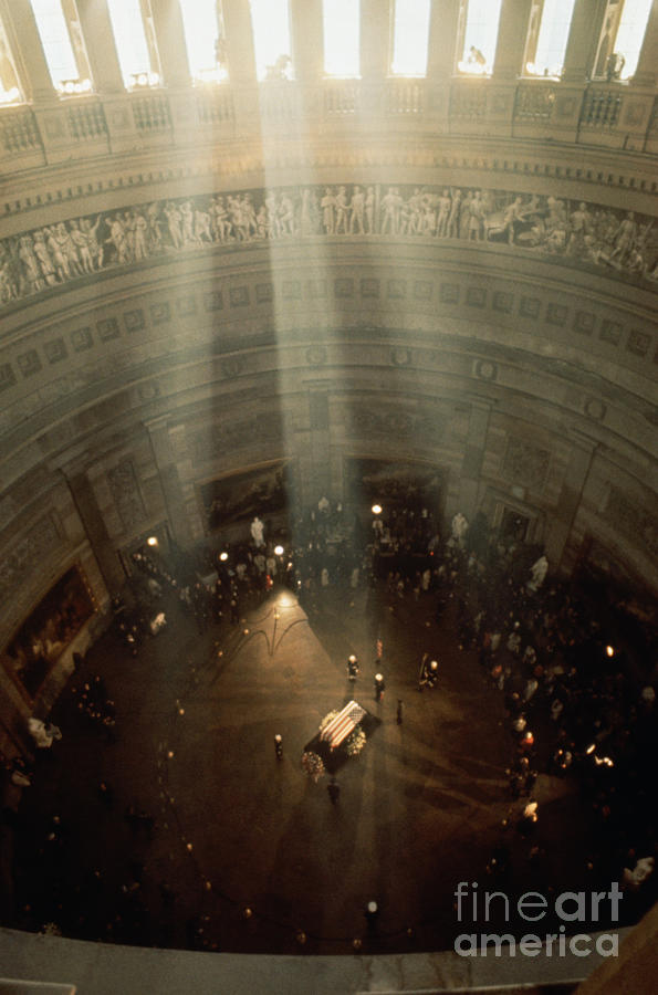 Sunlight Shining On Kennedys Coffin Photograph by Bettmann