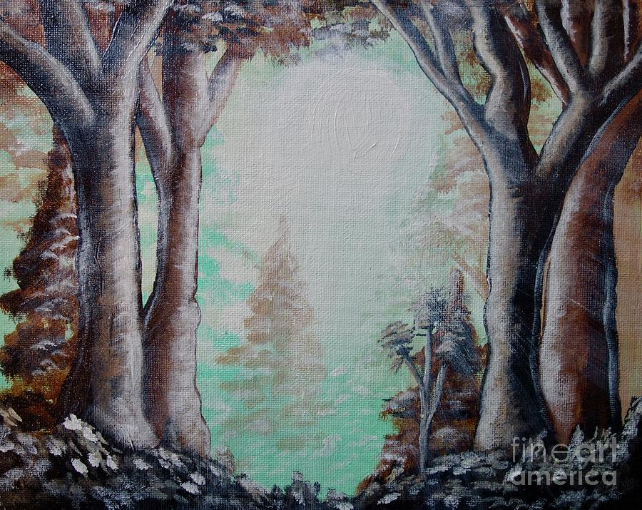 Sunlight Through The Forest by Jacqueline Athmann