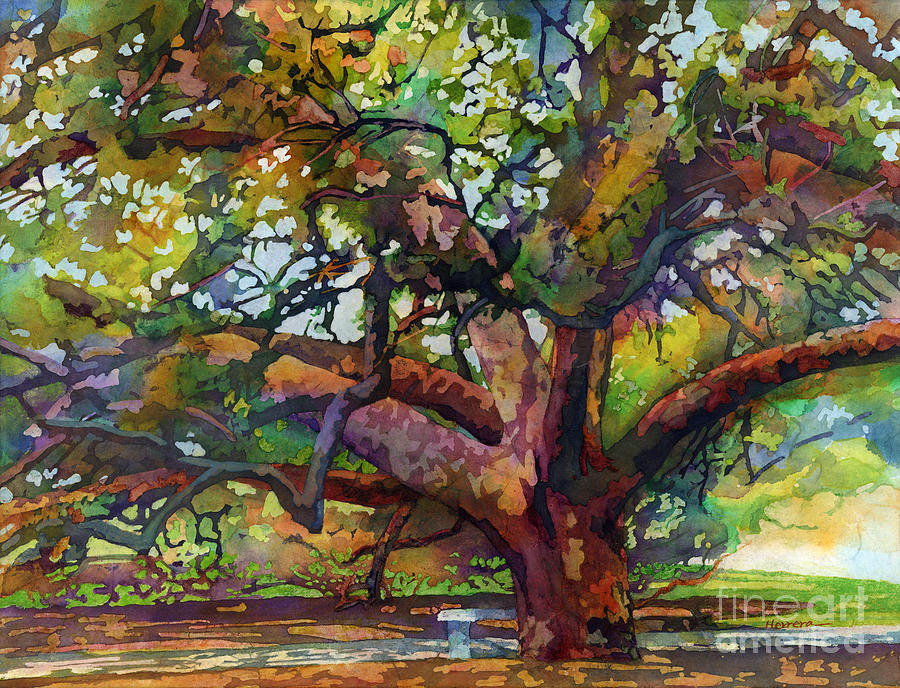 Sunlit Century Tree Painting