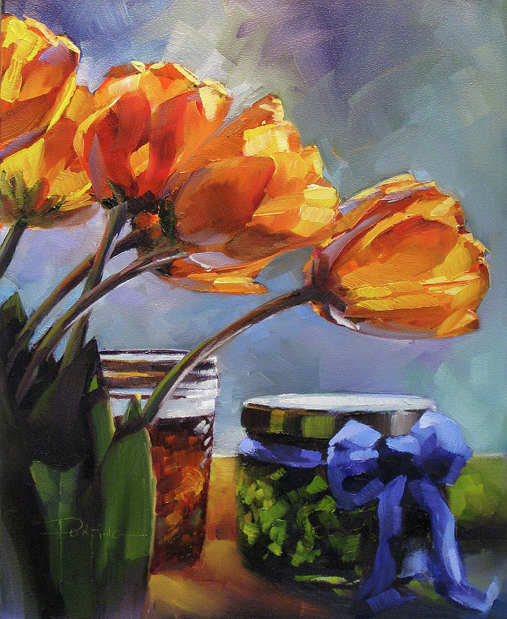 Tulips Painting - Sunlit Jewels by Dianna Ponting