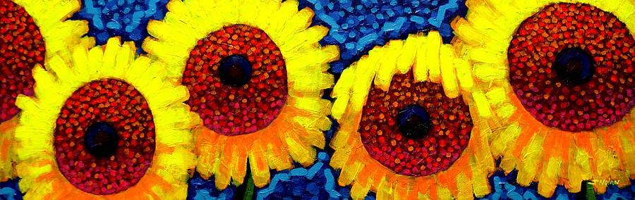 Acrylic Painting -  Sunlover Quintet  by John  Nolan