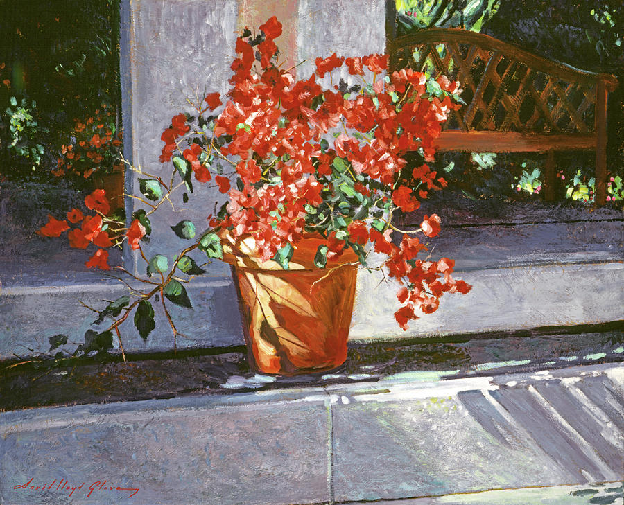 Sunny Bougainvillea Painting