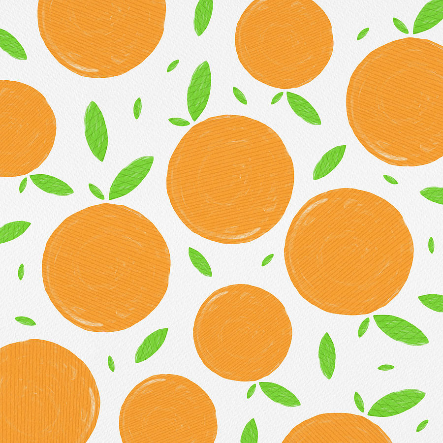 Sunny Citrus Pattern by Jen Montgomery