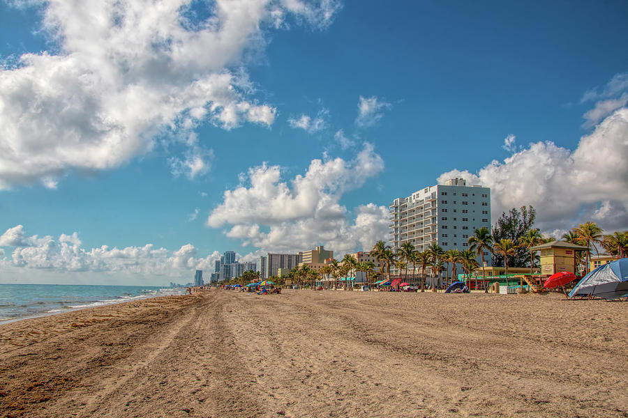 Sunny Day at Hollywood Beach by Kristia Adams