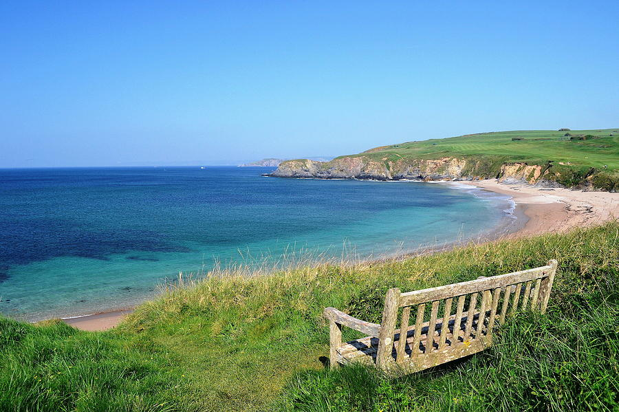 Sunny Day At Thurlestone Beach Photograph by Photo By Andrew Boxall