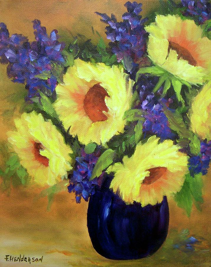 Sunflowers Painting - Sunny Day by Francine Henderson