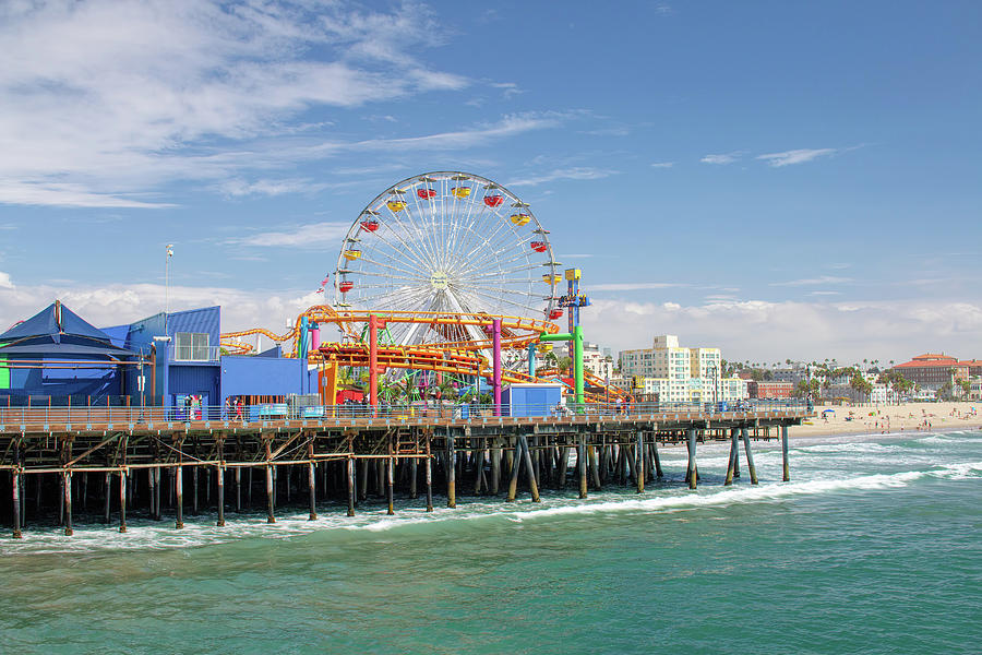 Sunny Day On The Santa Monica Pier by Kristia Adams