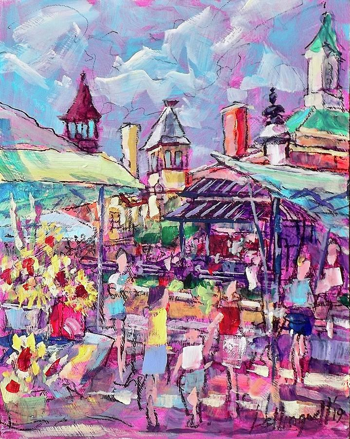 Sunny Market by Les Leffingwell