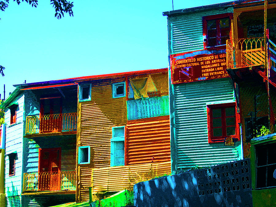 Sunny Morning, La Boca, Buenos Aires by Kurt Van Wagner