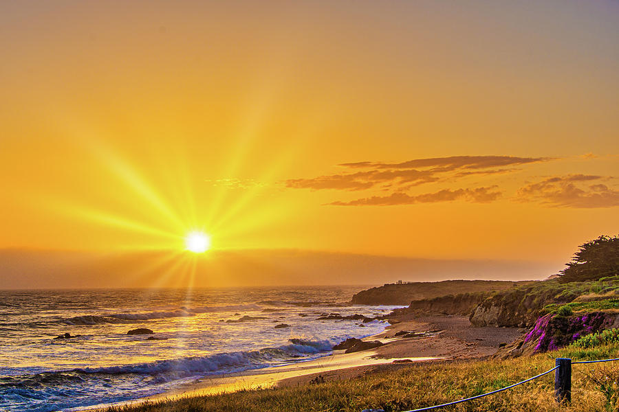 Sunrays Over Moonstone Beach  by Donald Pash