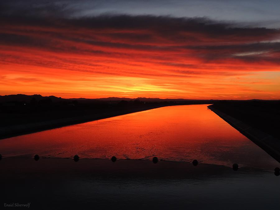 Sunrise 6-11-2019 California Aqueduct, 106th and Pearblossom Hwy, Littlerock, CA, A. by Enaid Silverwolf