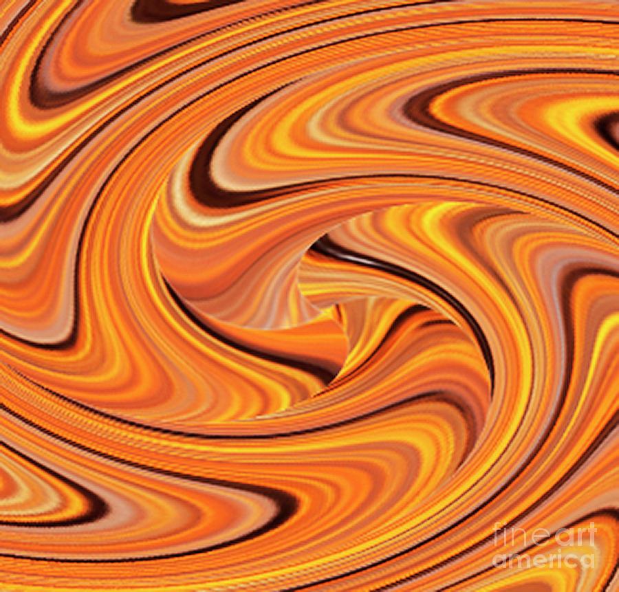 Sunrise Abstract Twirl by Sandra Cockayne ADPS