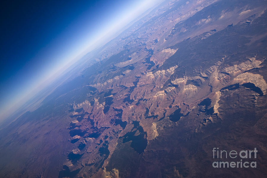 Flight Photograph - Sunrise Aerial View Of The Grand Canyon by Glenn Young