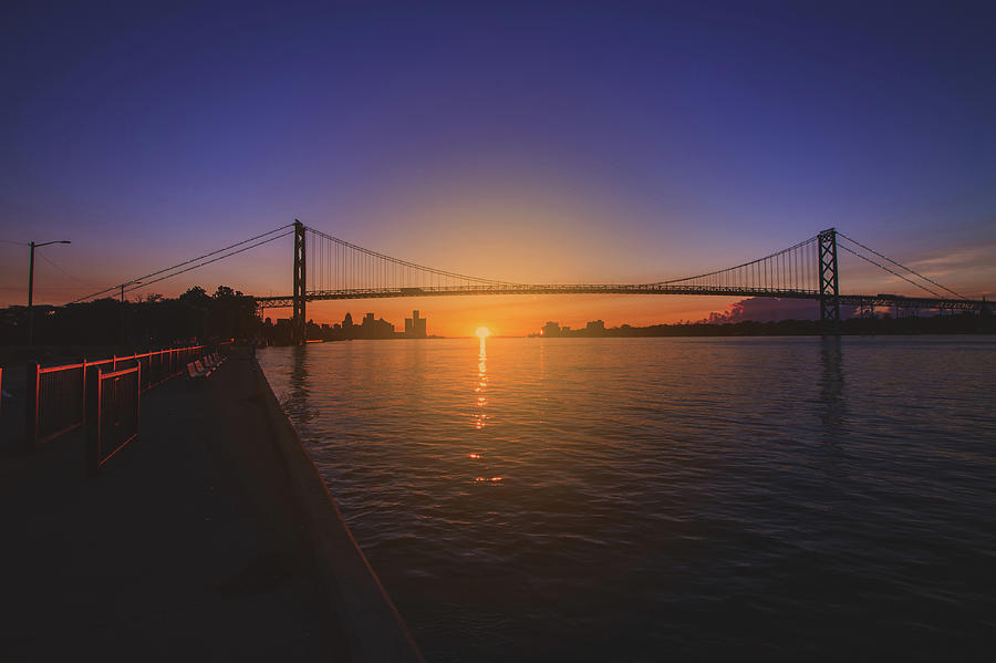 Sunrise along the Detroit River by Jay Smith