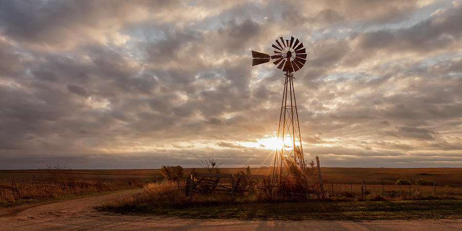 Sunrise and Windmill by Scott Bean