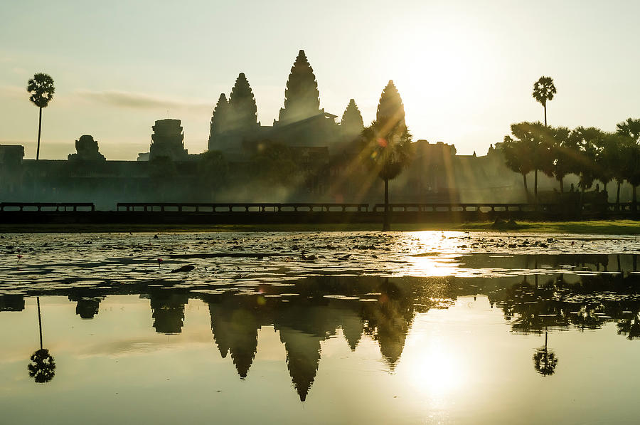Sunrise At Angkor Wat Photograph by Matt Davies Noseyfly@yahoo.com