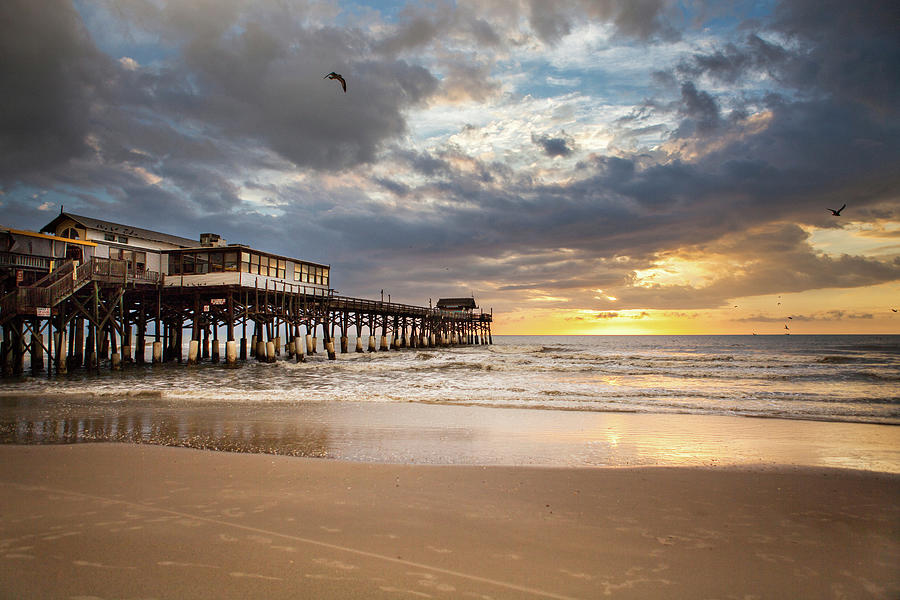 Sunrise At Cocoa Beach Pier Photograph by Will Tan