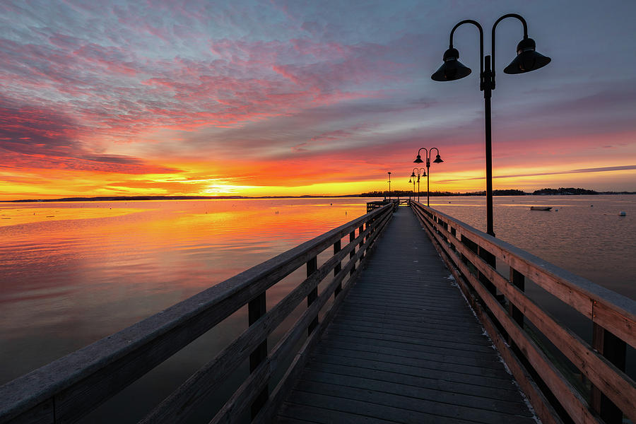 Sunrise at Falmouth Town Landing by Colin Chase