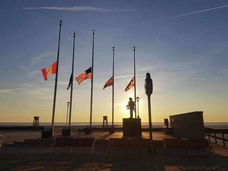 Sunrise at Firefighter Memorial by Robert Banach