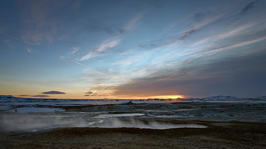 Sunrise at Iceland Geothermal Field by Joan Carroll