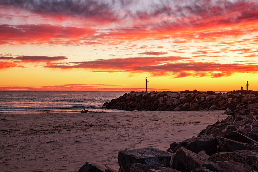 Sunrise at Kingscliff Beach by Catherine Reading