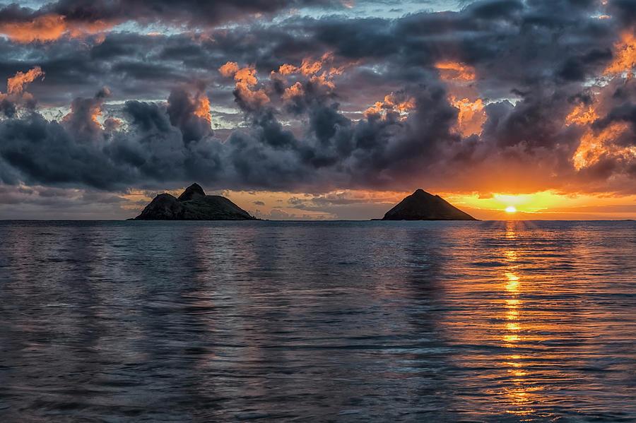 Sunrise At Lanikai Beach  Oahu, Hawaii by Robert Postma