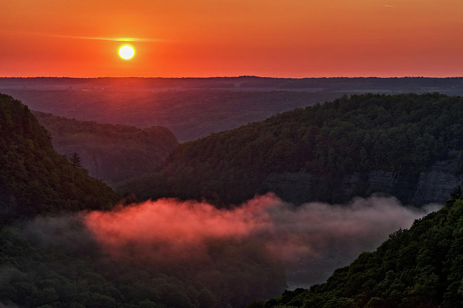 Sunrise At Letchworth State Park In New York by Jim Vallee