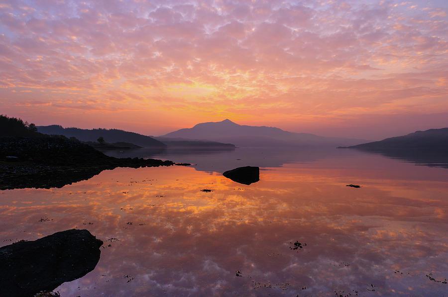 Ardnamurchan Photograph - Sunrise at Loch Sunart, Scottish Highlands by David Ross