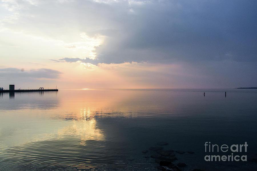Sunrise at Mackinaw City by Randy J Heath