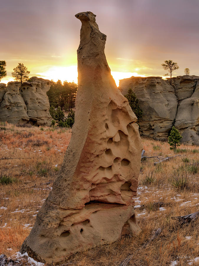 Balance Photograph - Sunrise At Medicine Rocks by Leland D Howard