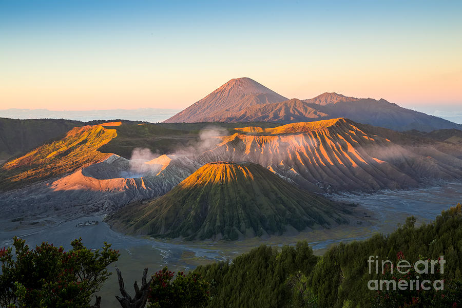 Sunshine Photograph - Sunrise At Mount Bromo Volcano, The by Twstock