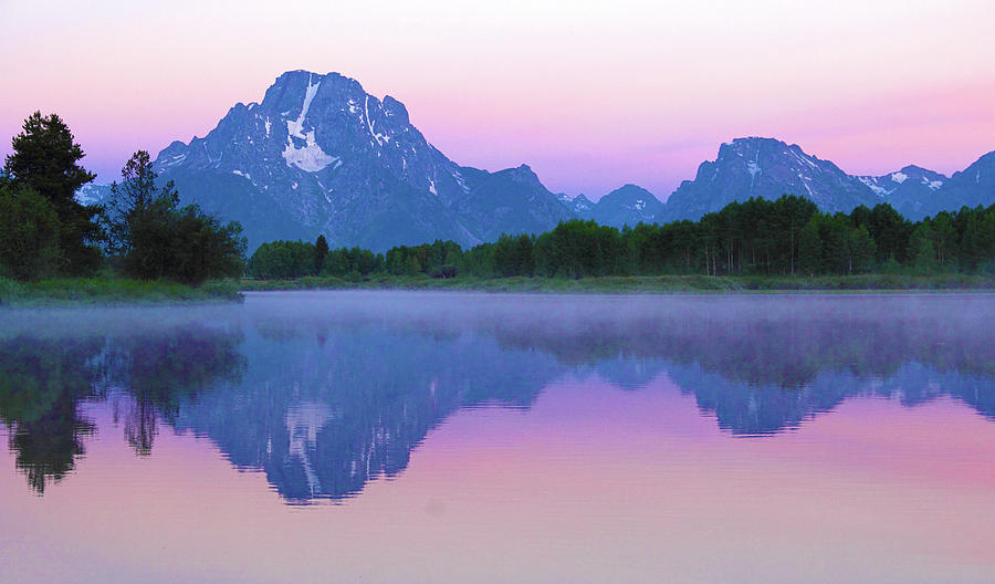 Sunrise at oxbow Bend 1 by Marie Leslie