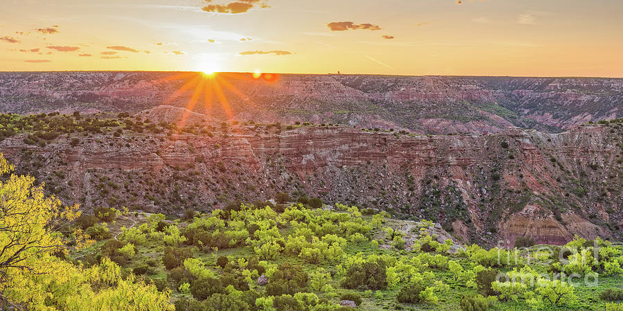 Sunrise At Palo Duro Canyon State Park - Amarillo Texas Panhandle Photograph