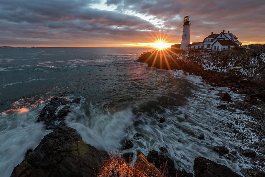 Sunrise at Portland Head Light by Darryl Hendricks