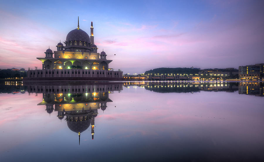 Sunrise At Putra Mosque Photograph by Khasif Photography