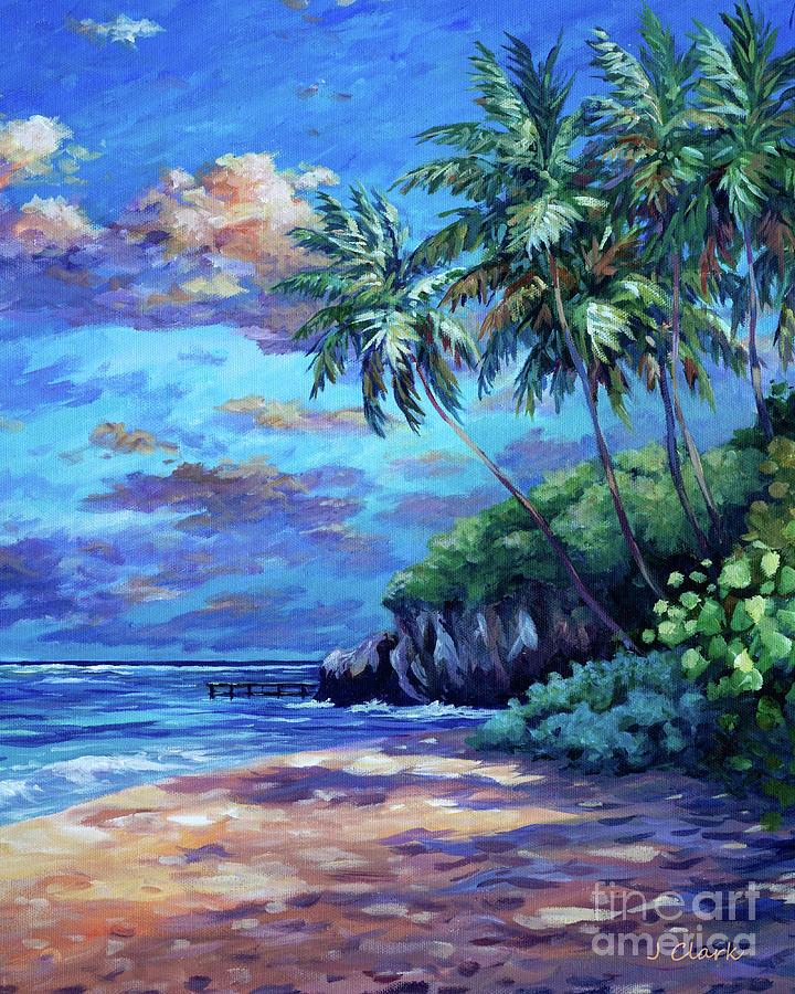 Beach Painting - Sunrise At Spotts Beach  by John Clark