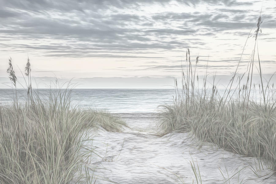 Sunrise at the Dunes Sketch by Debra and Dave Vanderlaan