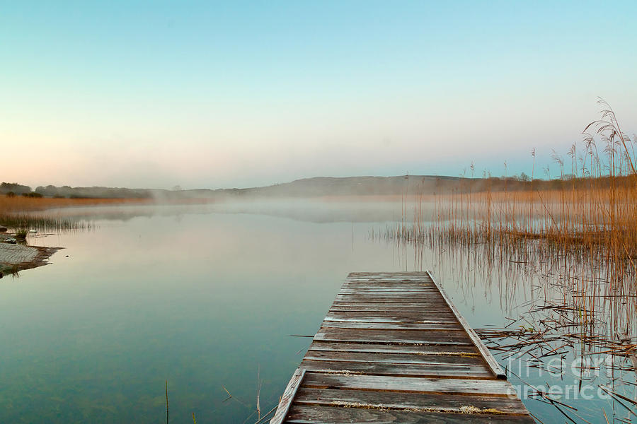 Country Photograph - Sunrise  At The Lake In Ireland by Kwiatek7