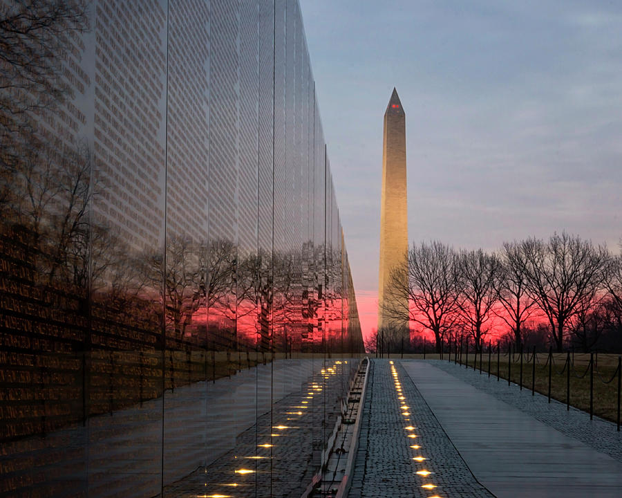 Sunrise at the Memorial by Travis Rogers