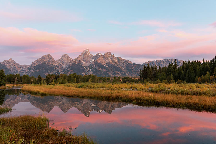 Sunrise at the Tetons by Mary Hone