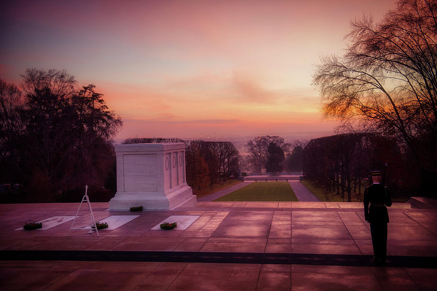 Tomb Of The Unknown Soldier Photograph - Sunrise At The Tomb Of The Unknown Soldier by Us Army  Rachel Larue