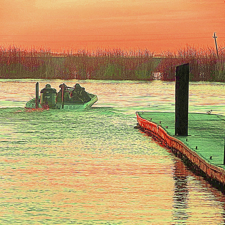 Sunrise Bass Fishing by Joseph Coulombe
